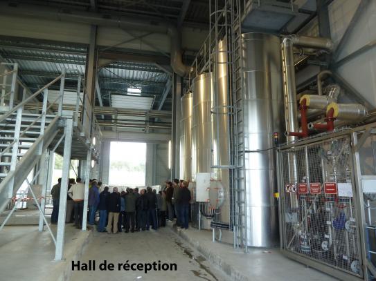 Visite de l'usine de méthanisation du Mené (22) organisée par Quimper Cornouaille Développement