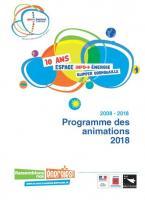 Programme des animations pour les 10 ans de l'Espace Info Energie (2018)