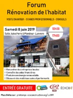 Affiche Forum rénovation habitat 8/06/2019