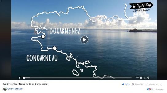 Cyclo'Trip carte itinéraire Cornouaille, juin 2019, QCD