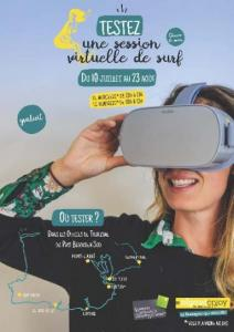 Affiche vidéo Surf immersion, QCD, Pays Bigouden Sud, juillet 2019