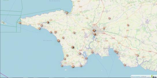 Carte WiFi Cornouaille