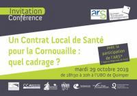 """Invitation Conférence """"Un Contrat Local de Santé pour la Cornouaille"""" 29 octobre 2019"""