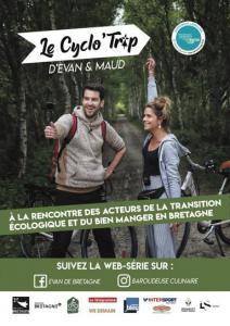 Affiche Cyclo'Trip d'Evan de Bretagne et Maud la Baroudeuse culinaire, juin 2019