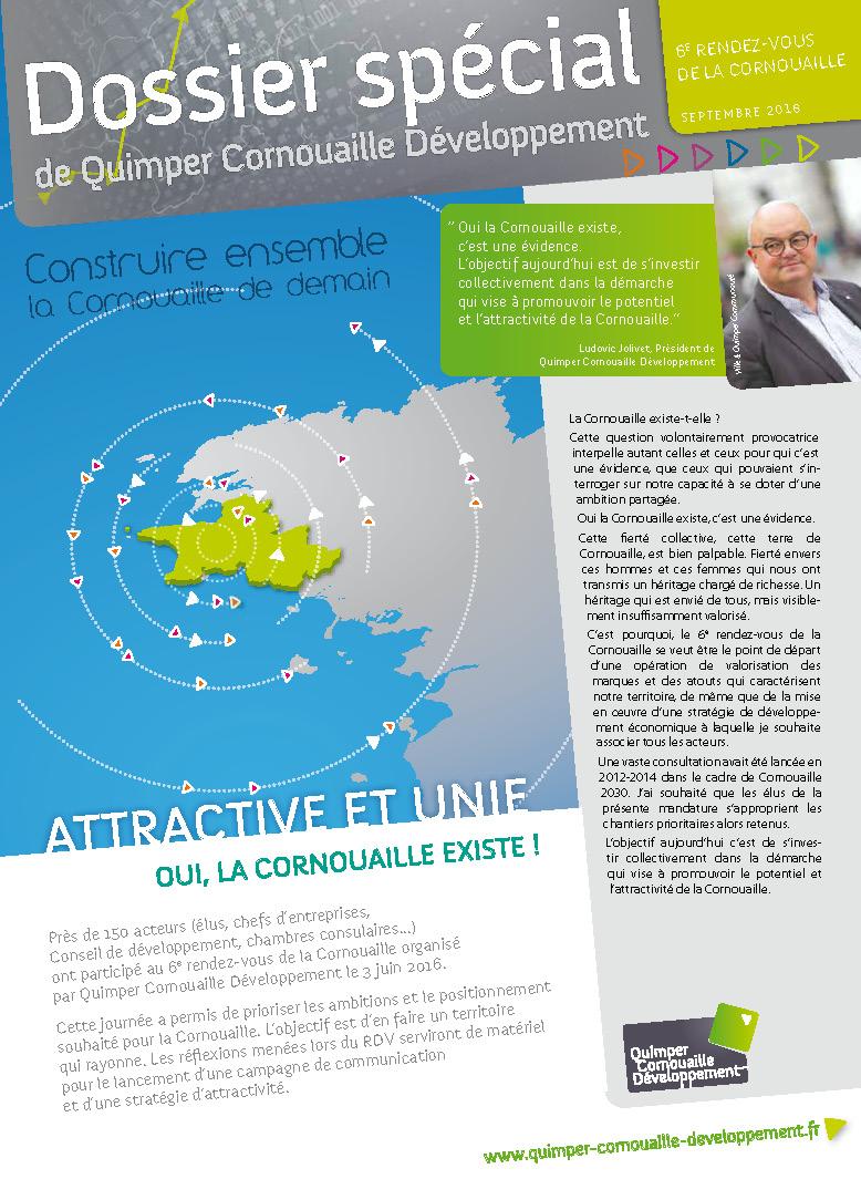 Dossier spécial de Quimper Cornouaille Développement: 6è rendez-vous de la Cornouaille (septembre 2016)