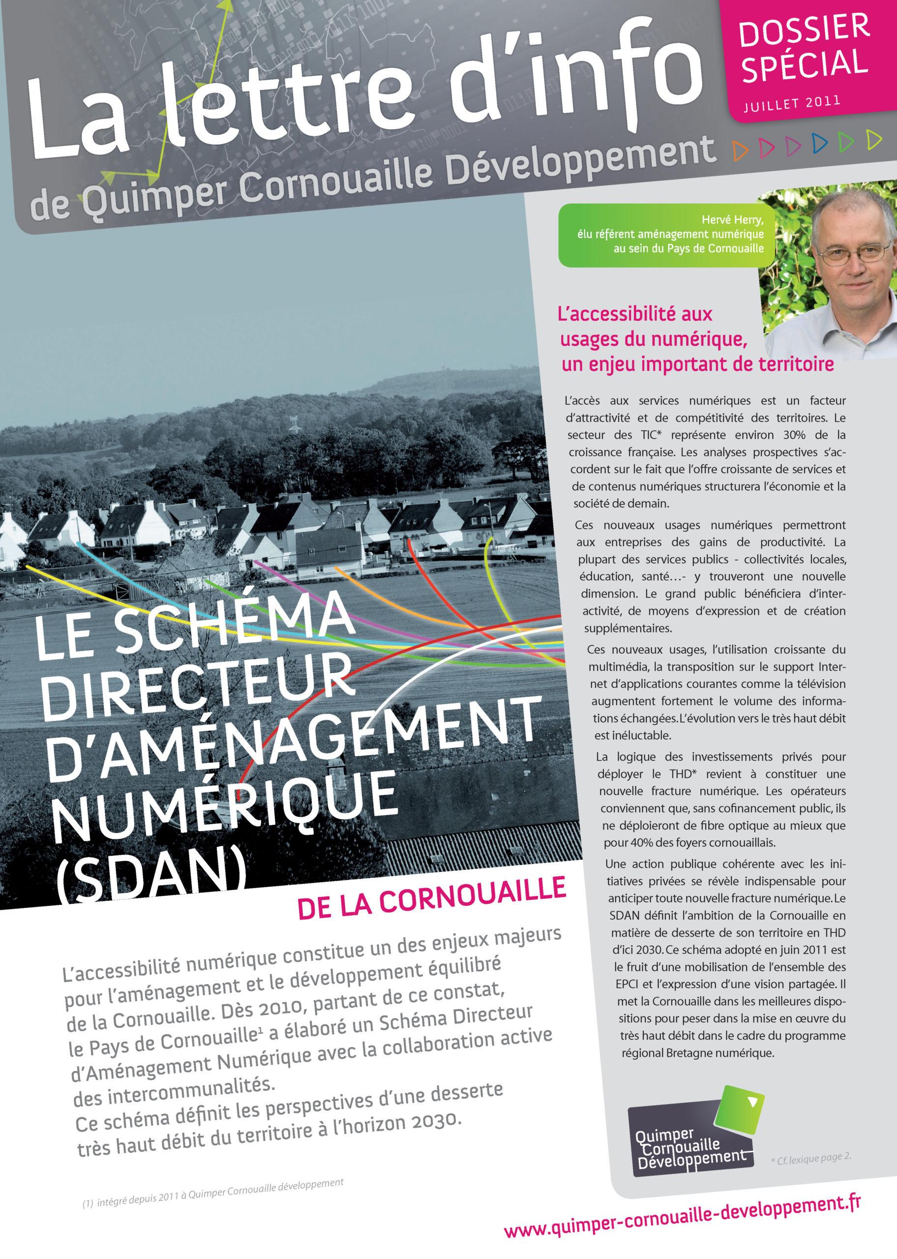 Dossier spécial de Quimper Cornouaille Développement. Le schéma directeur d'aménagement numérique (SDAN) de la Cornouaille