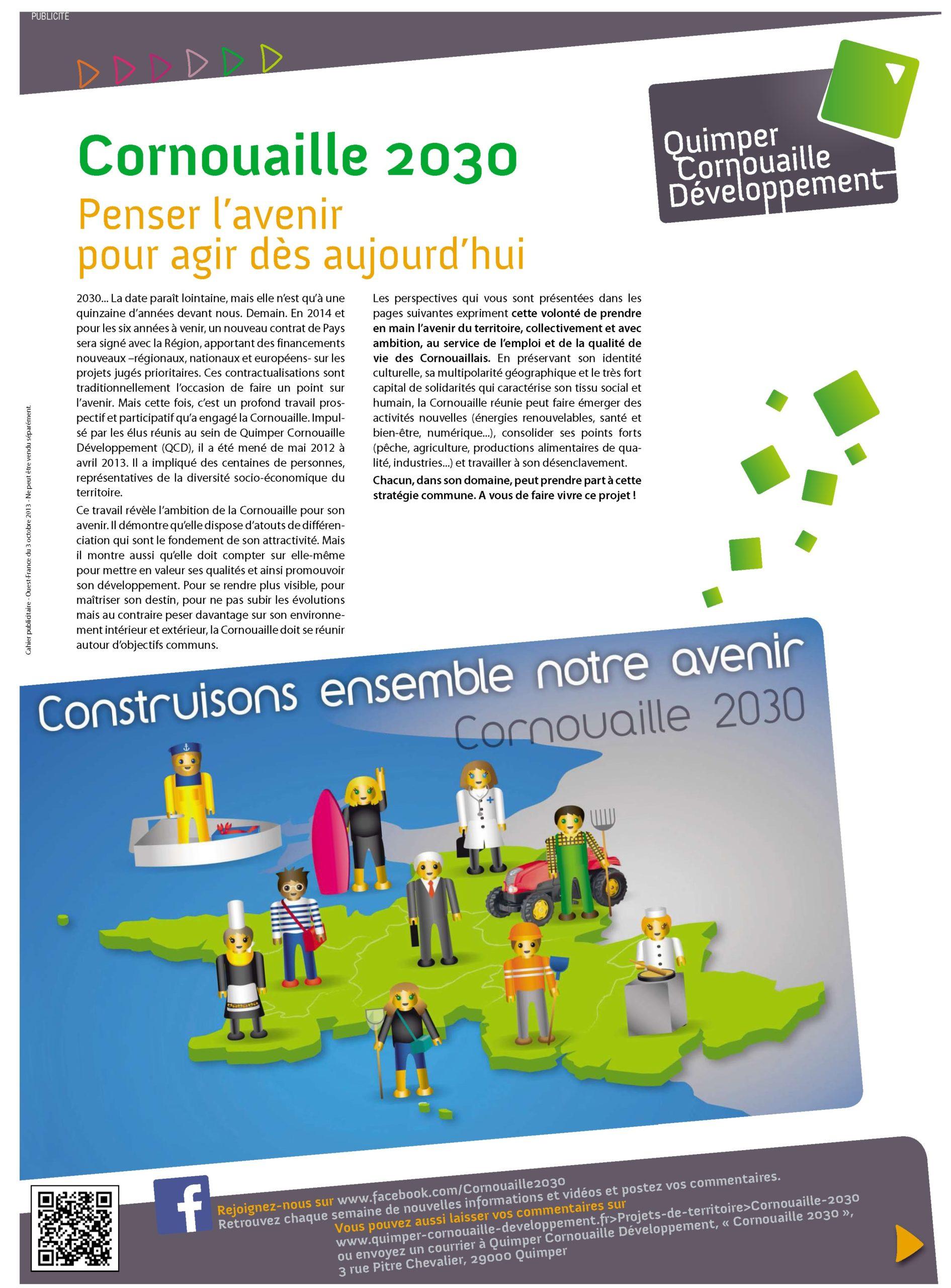 """Encart """"Cornouaille 2030"""" (Ouest France"""