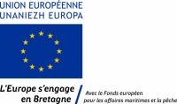 Logo L'Europe s'engage en Bretagne / avec le Fonds européen pour les affaires maritimes et la pêche