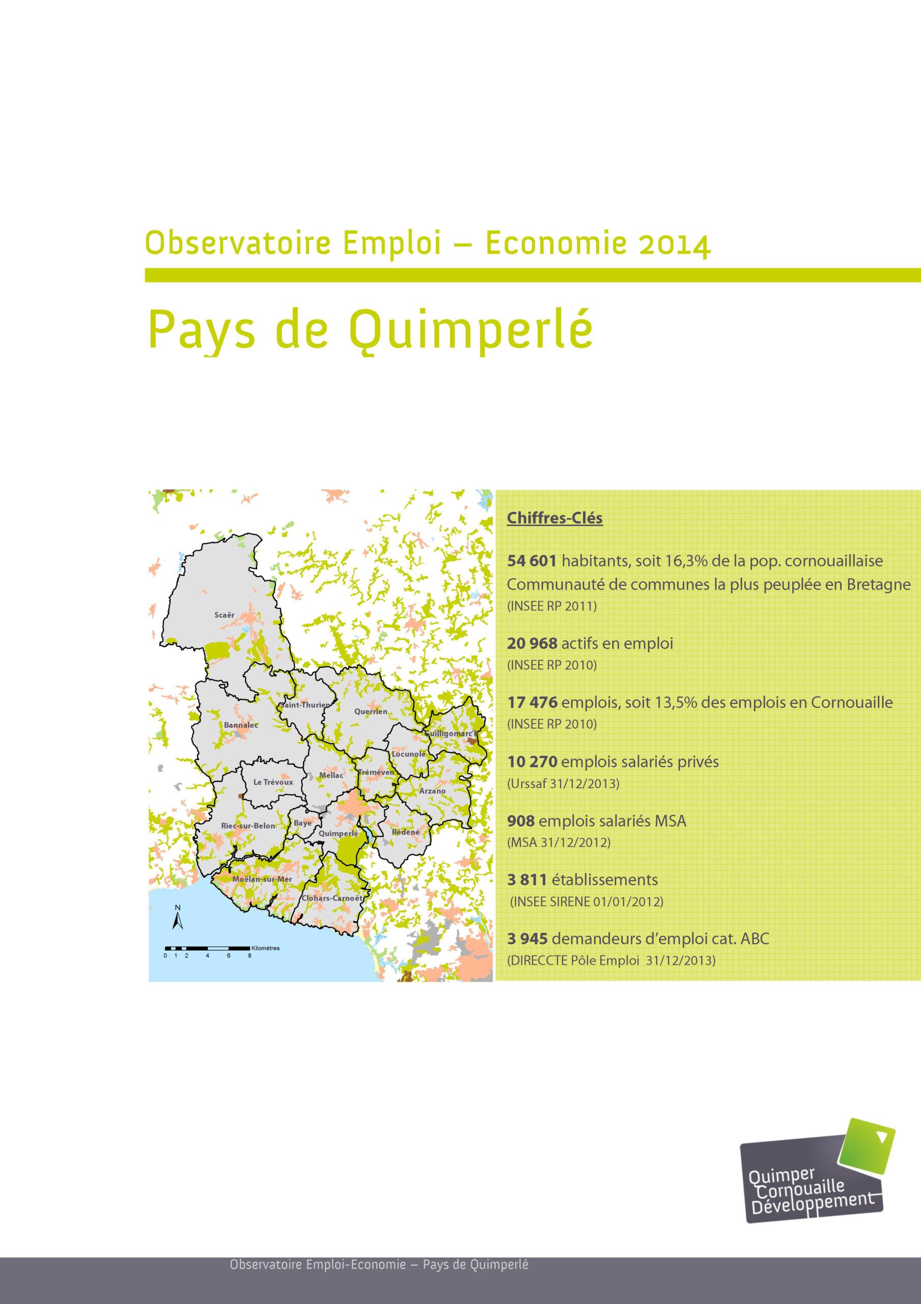 Observatoire Emploi-Economie. Pays de Quimperlé 2014 (Quimper Cornouaille Développement)