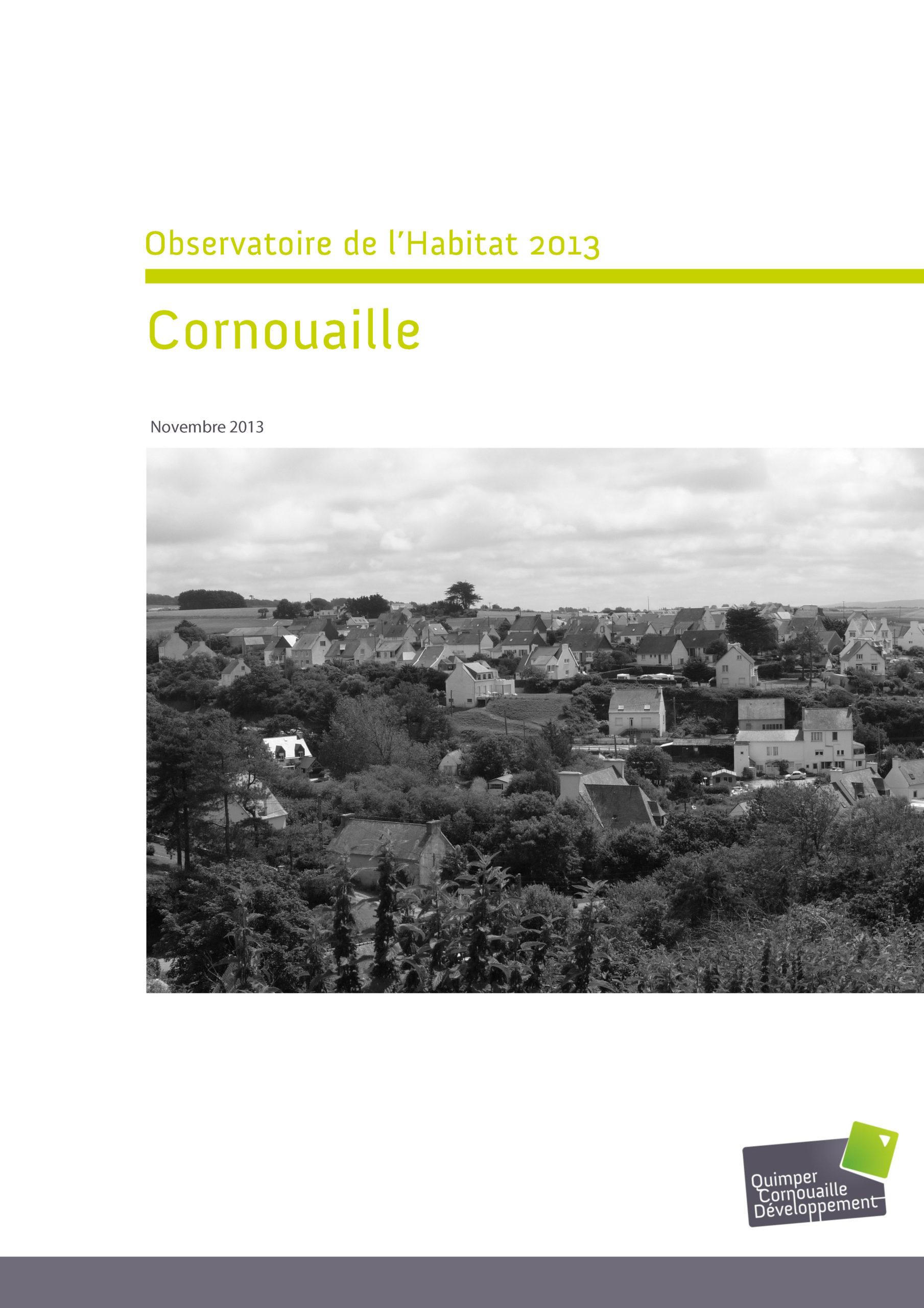 Observatoire de l'habitat 2013 Cornouaille (et fiches par EPCI)