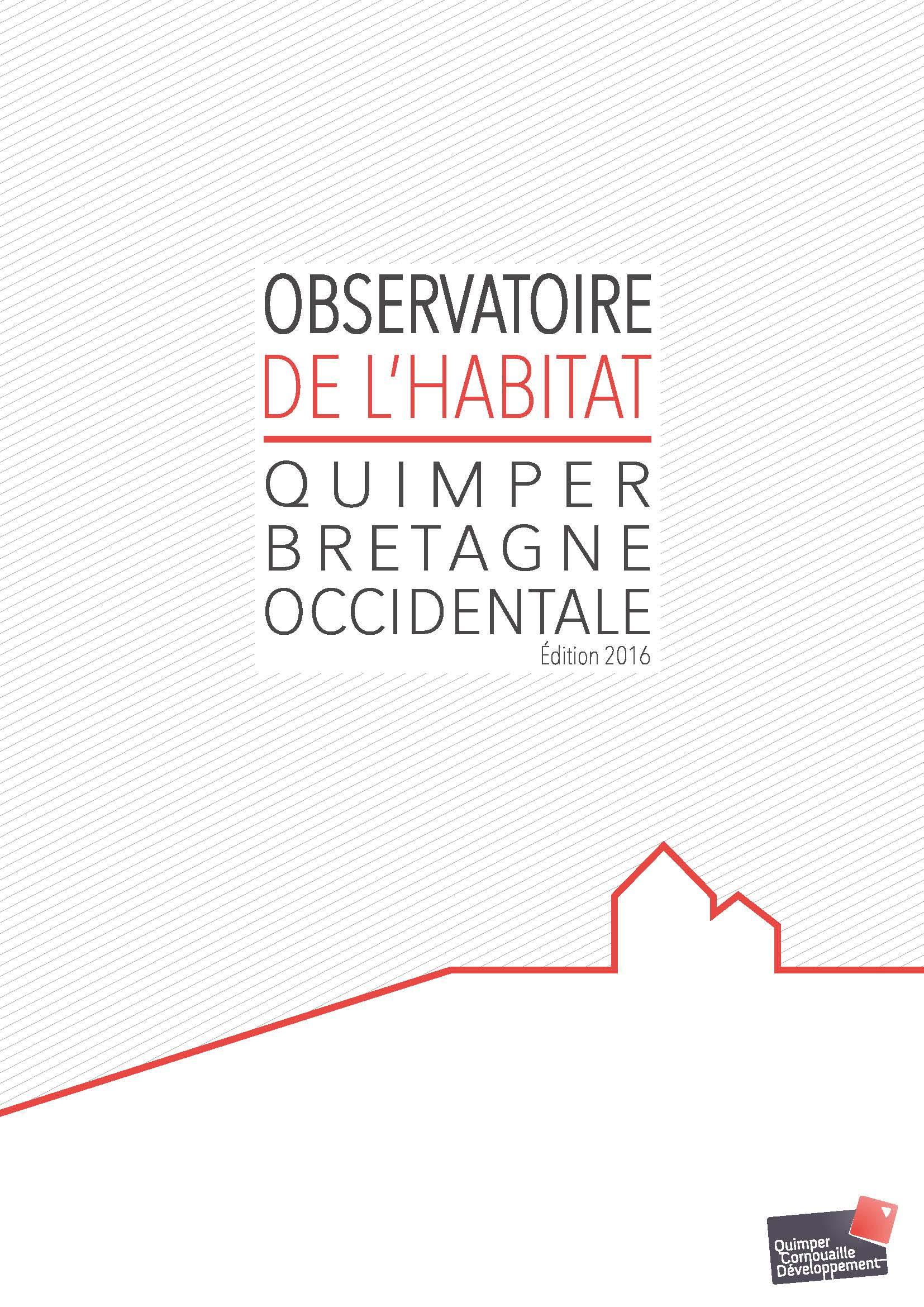 Observatoire de l'habitat 2016 - Quimper Bretagne Occidentale (avril 2017)