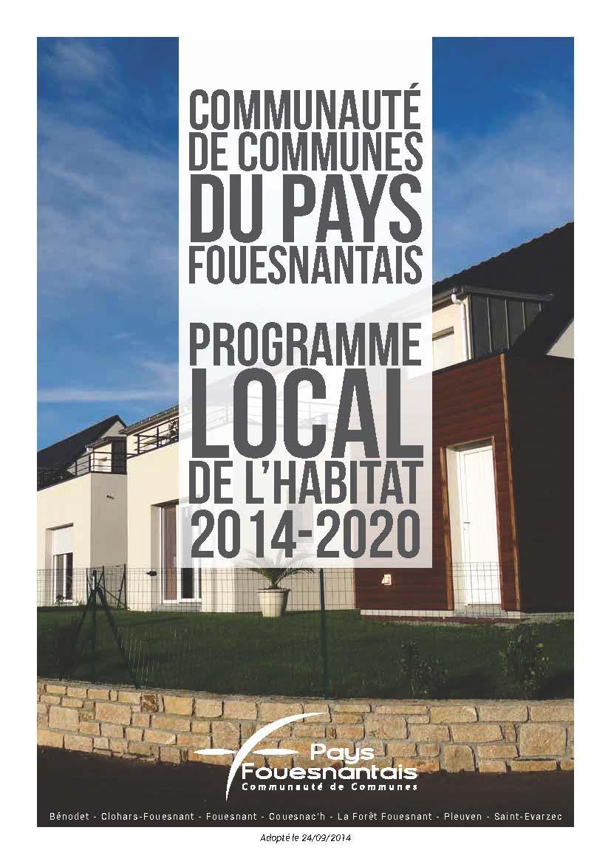 PLH 2014-2020 de la Communauté de communes du Pays Fouesnantais (approuvé le 29 septembre 2014)