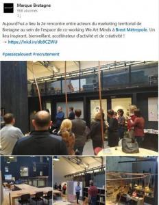 Rencontre Marketing territorial, Post Linkedin Marque Bretagne, 24/10/2019