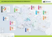 Carte des Zones d'Activités Economiques de Cornouaille - QUIMPER CORNOUAILLE DEVELOPPEMENT & CCI QUIMPER CORNOUAILLE (décembre 2016)