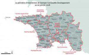 Carte périmètre Cornouaille au 01/01/2018