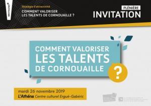 Plénière stratégie d'attractivité : comment valoriser les talents de Cornouaille ? (26/11/2019)