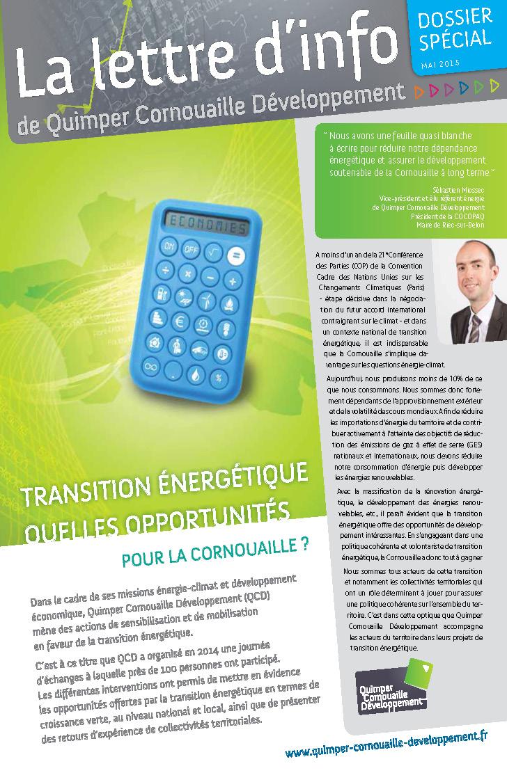Dossier spécial de Quimper Cornouaille Développement: Transition énergétique, quelles opportunités pour la Cornouaille? (mai 2015)