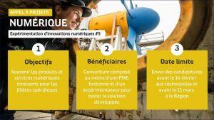 Appel à projets Région : Expérimentation d'innovations numériques