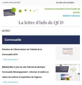 Couverture lettre d'info #1 de QCD