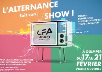 Affiche portes ouvertes de l'IFRIA Ouest, CFA de l'agro, semaine de l'alternance (janvier 2020)
