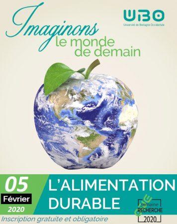 Affiche Semaine de la Recherche : Alimentation Durable, UBO