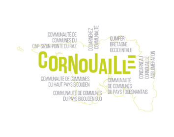 Carte Cornouaille graphique (roll up)