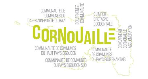 Carte Cornouaille graphique (roll up)