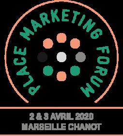 Logo du Place Marketing Forum 2020, PMF, marketing territorial, Chaire Attractivité & Nouveau Marketing Territorial