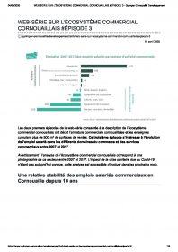 Web-série sur l'écosystème commercial cornouailais #Épisode 3, publication de Quimper Cornouaille Développement (avril 2020)