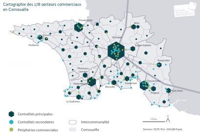 QCD - Cartographie des 178 centres commerciaux en Coarnouaille
