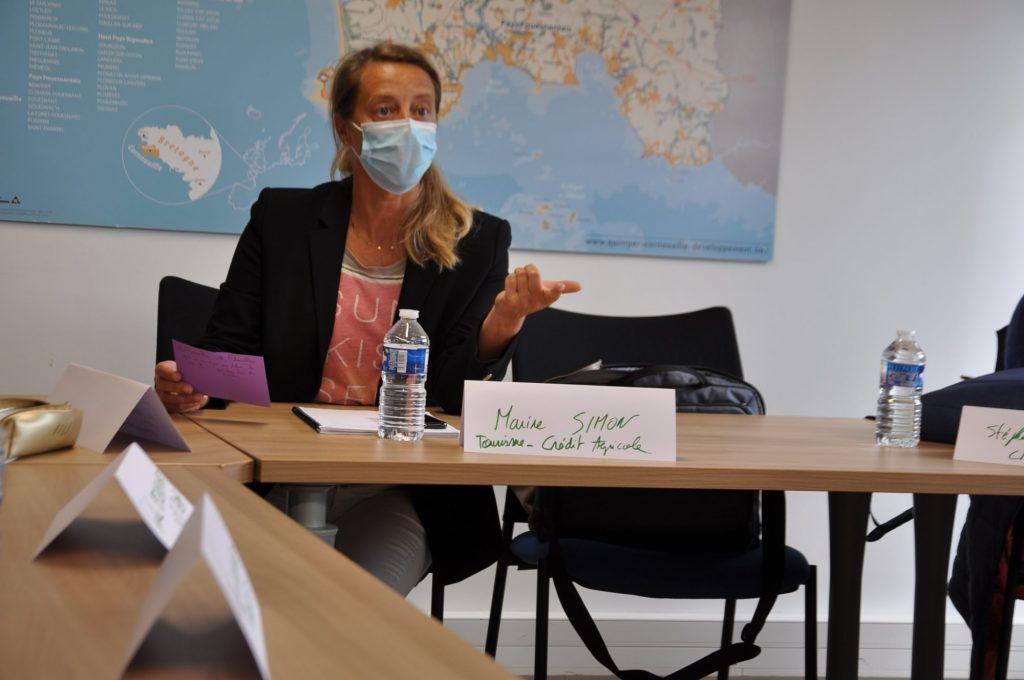 Marine Simon, membre du groupe de travail attractivité, chargée de la filière tourisme au Crédit agricole du Finistère