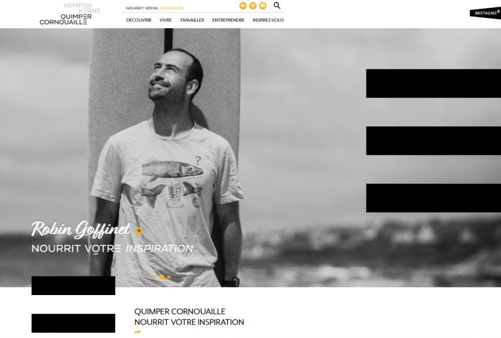 quimpercornouaille.bzh, le site de l'attractivité de Quimper Cornouaille, marketing territorial