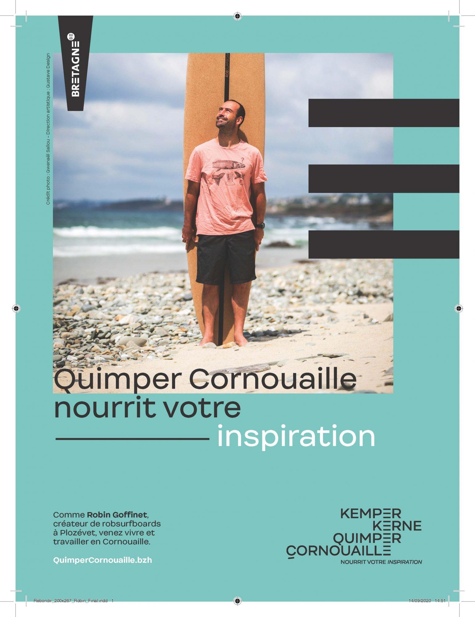 Venez vivre et travailler en Cornouaille, Courrier cadres et Rebondir, Robin Goffinet, robsurfboards, Plozévet