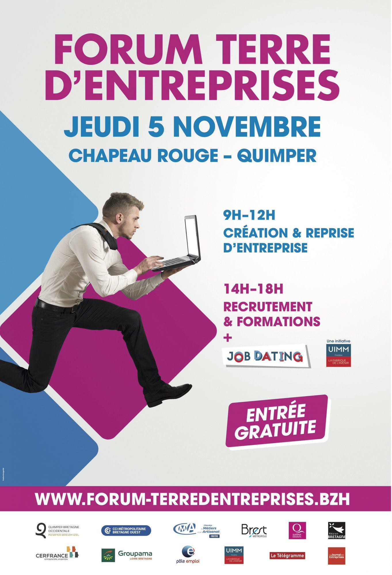 Forum terre d'entreprises, Quimper, 5/11/2020