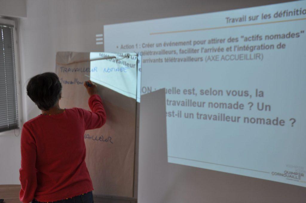 définition des termes télétravailleur set travailleurs nomades, en groupe de travail attractivité
