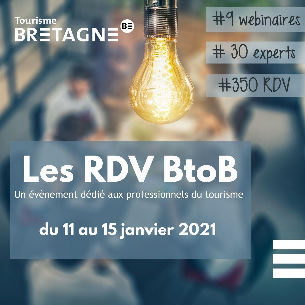 Les « Rendez-vous BtoB » du 11 au 15 janvier 2021 du CRT Bretagne
