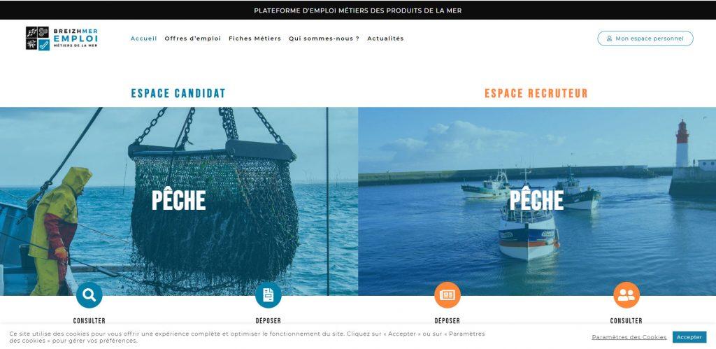 Breizhmer, la plateforme dédiée à l'emploi de la filière bretonne des produits de la mer www.breizhmer-emploi.bzh