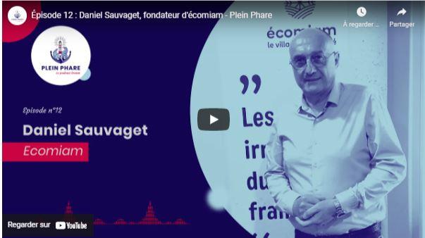 Daniel Sauvaget, fondateur d'Ecomiam,, talent de Quimper Cornouaille. Réalisé en partenariat avec Quimper Cornouaille nourrit votre inspiration, avril 2021