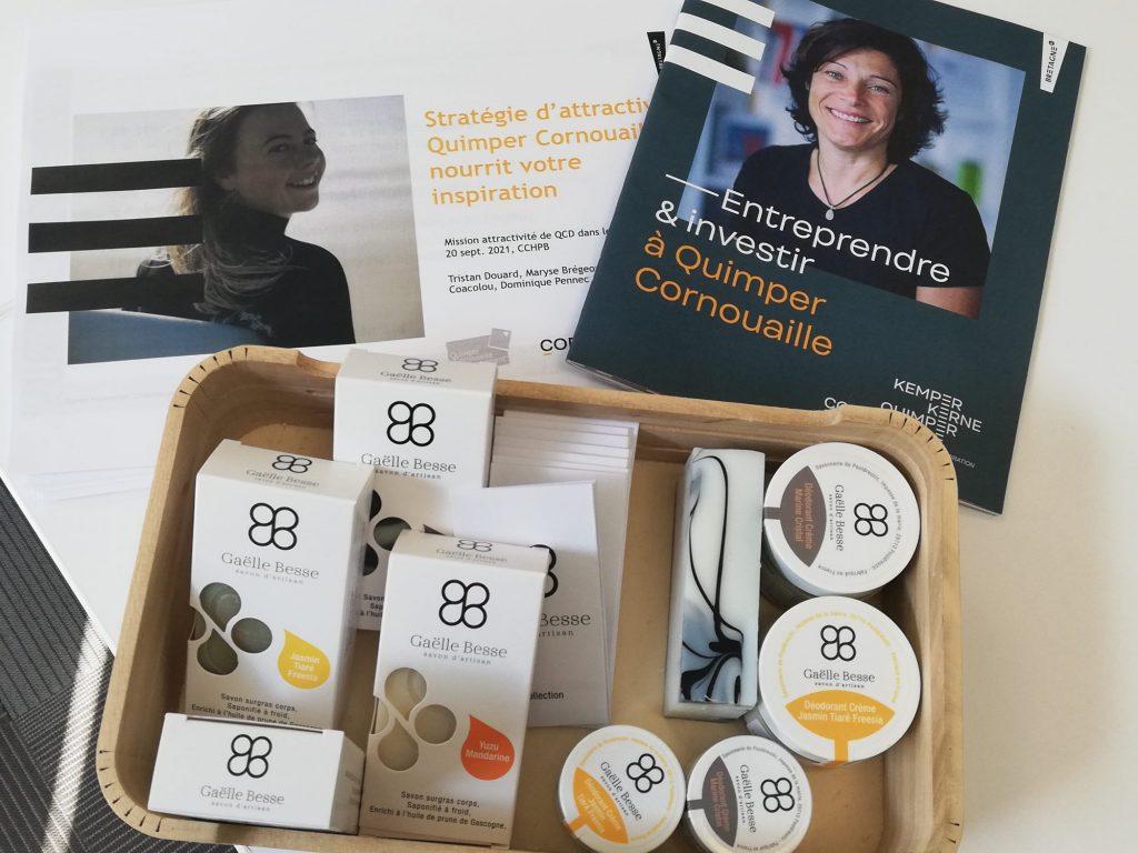 Attractivité de la Cornouaille : Tour des EPCI à la CCHPB : Entreprendre & investir à Quimper Cornouaille avec Gaëlle Besse, savon d'artisan à Pouldreuzic