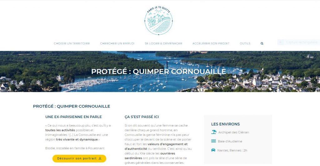 Paris je te quitte Quimper Cornouaille nourrit votre inspiration, page territoire